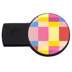Colorful Squares Background Usb Flash Drive Round (2 Gb)