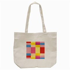Colorful Squares Background Tote Bag (Cream)