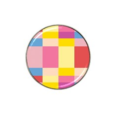Colorful Squares Background Hat Clip Ball Marker (4 Pack)