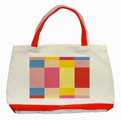 Colorful Squares Background Classic Tote Bag (Red)