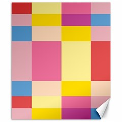 Colorful Squares Background Canvas 8  X 10