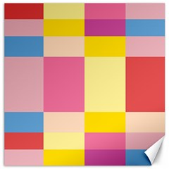 Colorful Squares Background Canvas 12  X 12