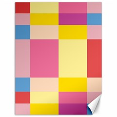 Colorful Squares Background Canvas 12  x 16
