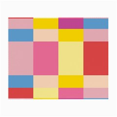 Colorful Squares Background Small Glasses Cloth (2 Side)