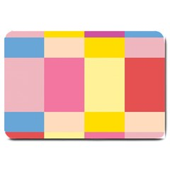 Colorful Squares Background Large Doormat