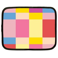 Colorful Squares Background Netbook Case (Large)