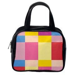 Colorful Squares Background Classic Handbags (one Side)