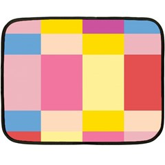 Colorful Squares Background Fleece Blanket (mini)