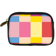 Colorful Squares Background Digital Camera Cases