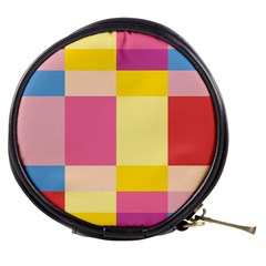 Colorful Squares Background Mini Makeup Bags