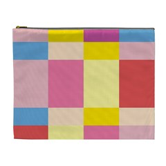 Colorful Squares Background Cosmetic Bag (xl)