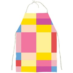 Colorful Squares Background Full Print Aprons