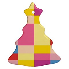 Colorful Squares Background Ornament (christmas Tree)
