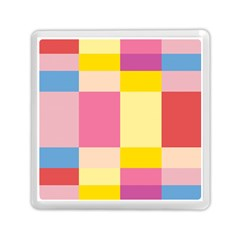 Colorful Squares Background Memory Card Reader (square)