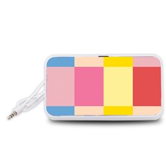 Colorful Squares Background Portable Speaker (White)