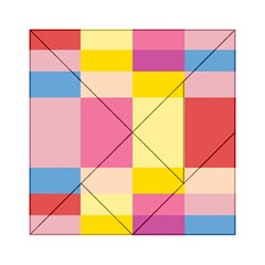 Colorful Squares Background Acrylic Tangram Puzzle (6  x 6 )