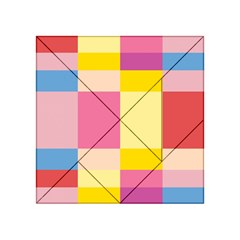Colorful Squares Background Acrylic Tangram Puzzle (4  x 4 )