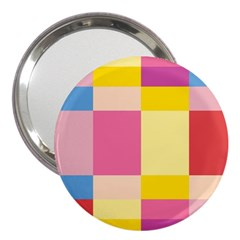 Colorful Squares Background 3  Handbag Mirrors