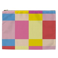 Colorful Squares Background Cosmetic Bag (xxl)