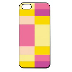 Colorful Squares Background Apple Iphone 5 Seamless Case (black)