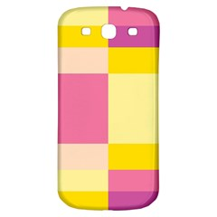 Colorful Squares Background Samsung Galaxy S3 S Iii Classic Hardshell Back Case