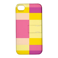Colorful Squares Background Apple iPhone 4/4S Hardshell Case with Stand