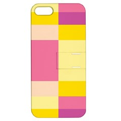 Colorful Squares Background Apple iPhone 5 Hardshell Case with Stand