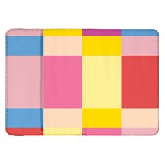 Colorful Squares Background Samsung Galaxy Tab 8.9  P7300 Flip Case