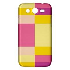 Colorful Squares Background Samsung Galaxy Mega 5.8 I9152 Hardshell Case