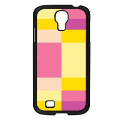 Colorful Squares Background Samsung Galaxy S4 I9500/ I9505 Case (black)