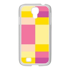 Colorful Squares Background Samsung Galaxy S4 I9500/ I9505 Case (white)