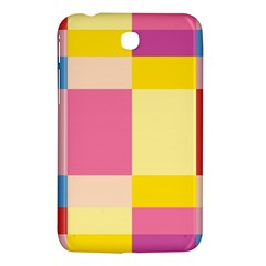 Colorful Squares Background Samsung Galaxy Tab 3 (7 ) P3200 Hardshell Case