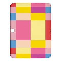Colorful Squares Background Samsung Galaxy Tab 3 (10.1 ) P5200 Hardshell Case