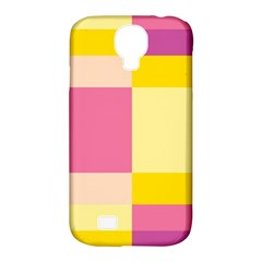 Colorful Squares Background Samsung Galaxy S4 Classic Hardshell Case (PC+Silicone)