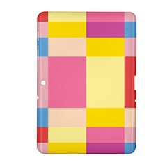Colorful Squares Background Samsung Galaxy Tab 2 (10 1 ) P5100 Hardshell Case