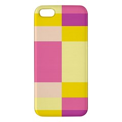 Colorful Squares Background iPhone 5S/ SE Premium Hardshell Case