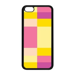 Colorful Squares Background Apple iPhone 5C Seamless Case (Black)