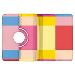 Colorful Squares Background Kindle Fire Hdx Flip 360 Case