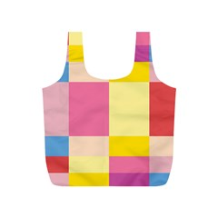 Colorful Squares Background Full Print Recycle Bags (S)