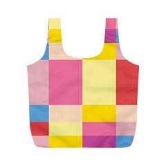 Colorful Squares Background Full Print Recycle Bags (M)