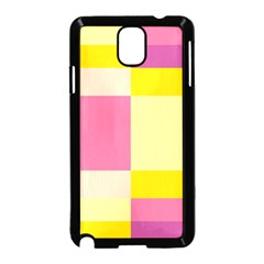Colorful Squares Background Samsung Galaxy Note 3 Neo Hardshell Case (Black)