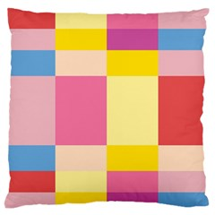 Colorful Squares Background Standard Flano Cushion Case (One Side)
