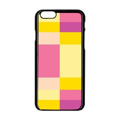 Colorful Squares Background Apple iPhone 6/6S Black Enamel Case
