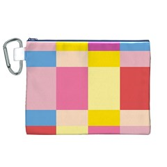 Colorful Squares Background Canvas Cosmetic Bag (XL)
