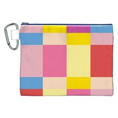 Colorful Squares Background Canvas Cosmetic Bag (XXL)