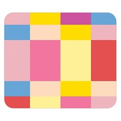 Colorful Squares Background Double Sided Flano Blanket (Small)