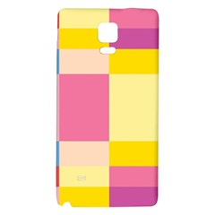 Colorful Squares Background Galaxy Note 4 Back Case