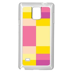Colorful Squares Background Samsung Galaxy Note 4 Case (White)
