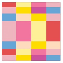 Colorful Squares Background Large Satin Scarf (Square)