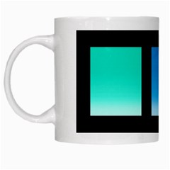 Colorful Background Squares White Mugs